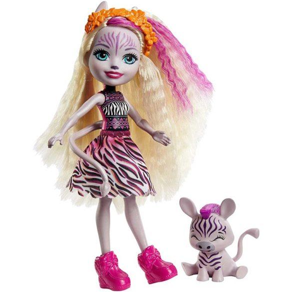 Enchantimals Papusa Zadie Zebra si Figurina Ref