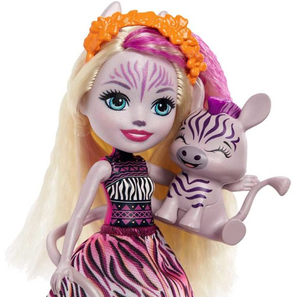 Enchantimals Papusa Zadie Zebra si Figurina Ref 3