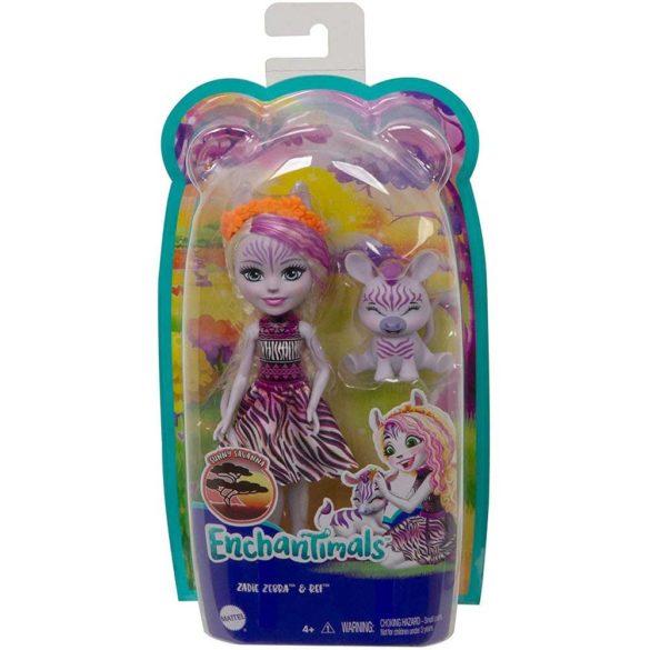 Enchantimals Papusa Zadie Zebra si Figurina Ref 6