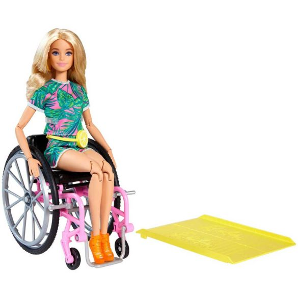 Papusa Barbie Fashionistas 165 Cu Scaun Si Tinuta Tropicala 5