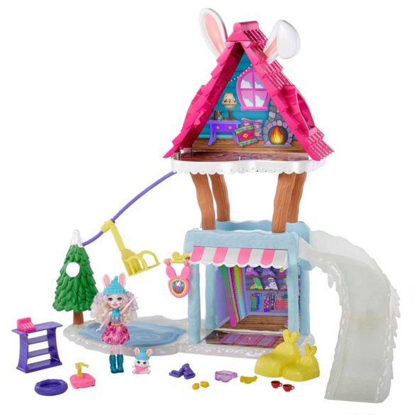 Set Enchantimals Cabana de Schi cu Papusa Bevy Bunny