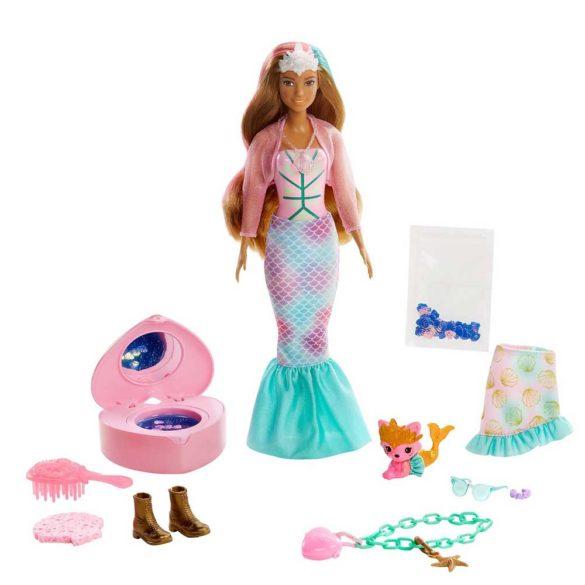 Barbie Color Reveal Peel Papusa Sirena cu 25 de Surprize 2