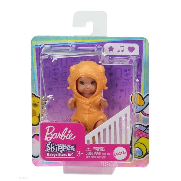 Barbie Skipper Babysitters Papusica Bebelus Portocaliu 5