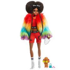 Papusa Barbie Extra - Hainuta Curcubeu