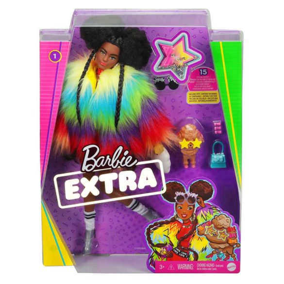 Papusa Barbie Extra Hainuta Curcubeu 7