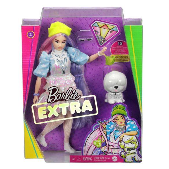 Papusa Barbie Extra cu Hainute Stralucitoare si Catelus 7