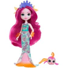 Enchantimals Papusa Mermaid si Figurina Glide