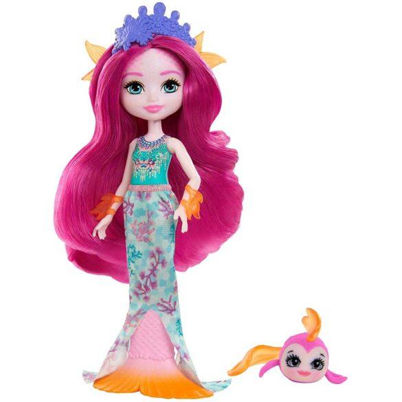 Enchantimals Papusa Mermaid si Figurina Glide