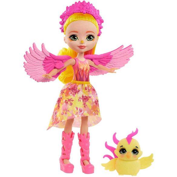 Enchantimals Papusa Phoenix si Figurina Sunrise