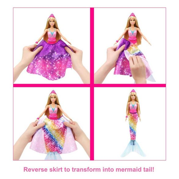 Papusa Barbie 2 in 1 Printesa si Sirena 3