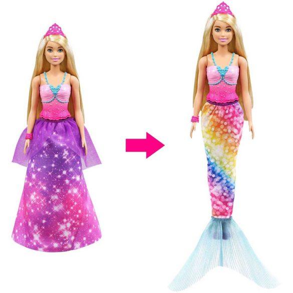 Papusa Barbie 2 in 1 Printesa si Sirena 4
