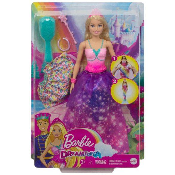 Papusa Barbie 2 in 1 Printesa si Sirena 5