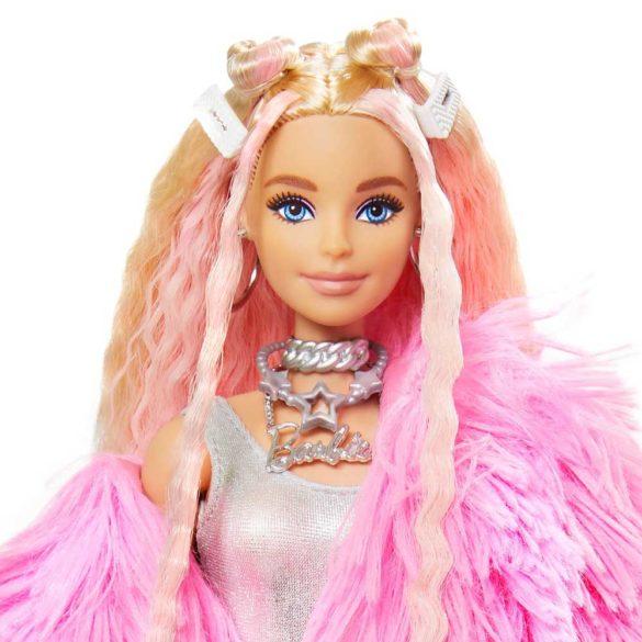 Papusa Barbie Extra 3 Pink Coat cu Unicorn 4