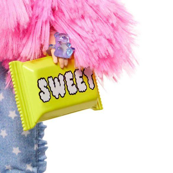 Papusa Barbie Extra 3 Pink Coat cu Unicorn 6