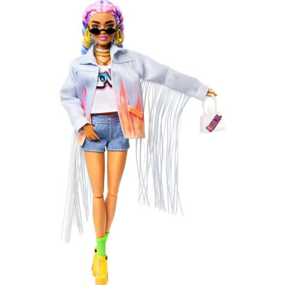 Papusa Barbie Extra 5 cu Jacheta Denim 4
