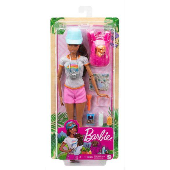 Papusa Barbie in Drumetie cu Figurina si 9 Accesorii 5