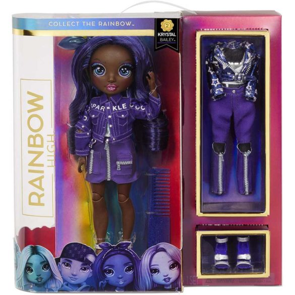 Rainbow High Papusa Krystal Bailey cu 2 Tinute 5