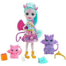 Set de joaca Enchantimals Familia Deanna Dragon