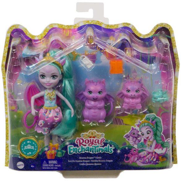 Set de joaca Enchantimals Familia Deanna Dragon 6