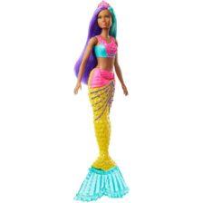 Papusa Barbie Sirena Galbena