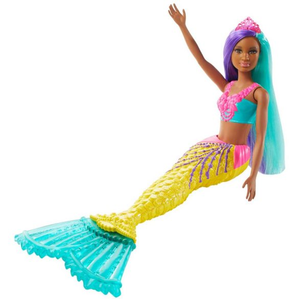 Papusa Barbie Sirena Galbena 5
