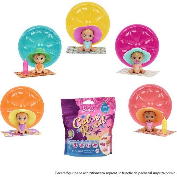 Barbie Color Reveal Figurina Bebelus cu 5 Surprize