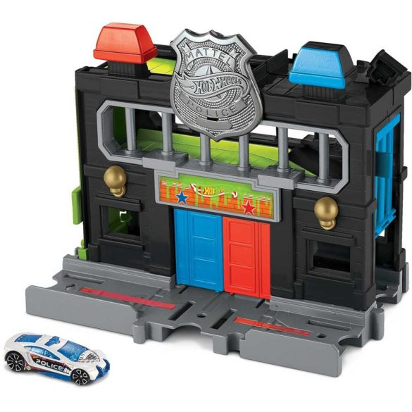 Hot Wheels City Sectia de Politie cu Masinuta