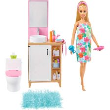 Set de Joaca cu Papusa Barbie si Mobilier Baie