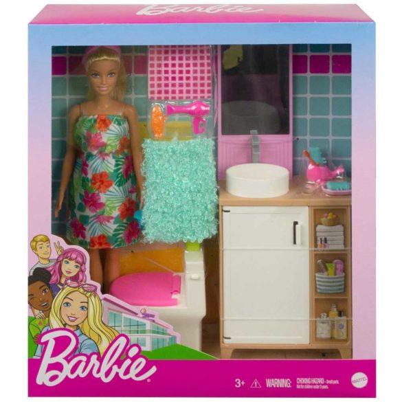 Set de Joaca cu Papusa Barbie si Mobilier Baie 2