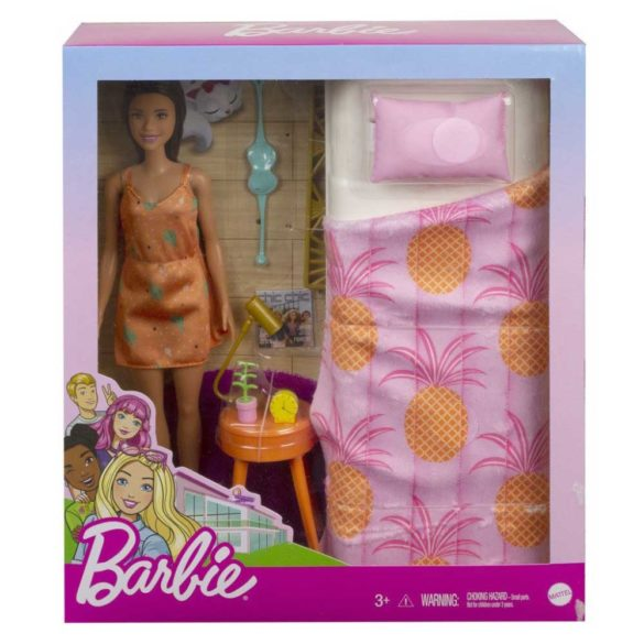 Set de Joaca cu Papusa Barbie si Mobilier Dormitor 3