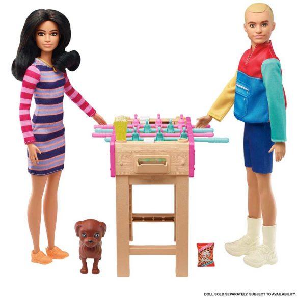 Set de Mobilier Barbie Masuta de Fotbal cu Figurina 3