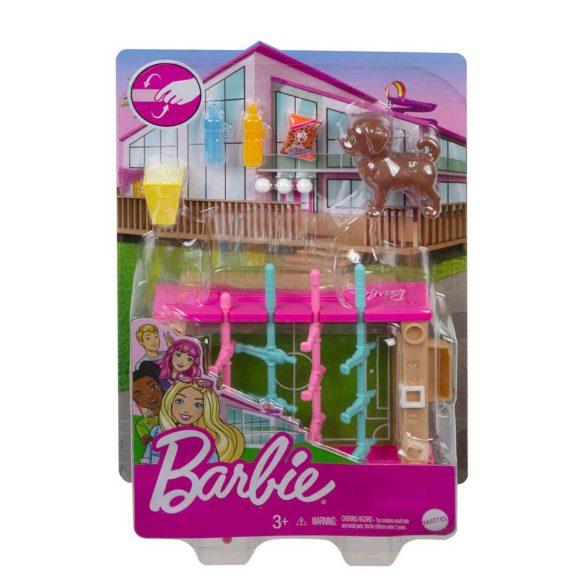 Set de Mobilier Barbie Masuta de Fotbal cu Figurina 4