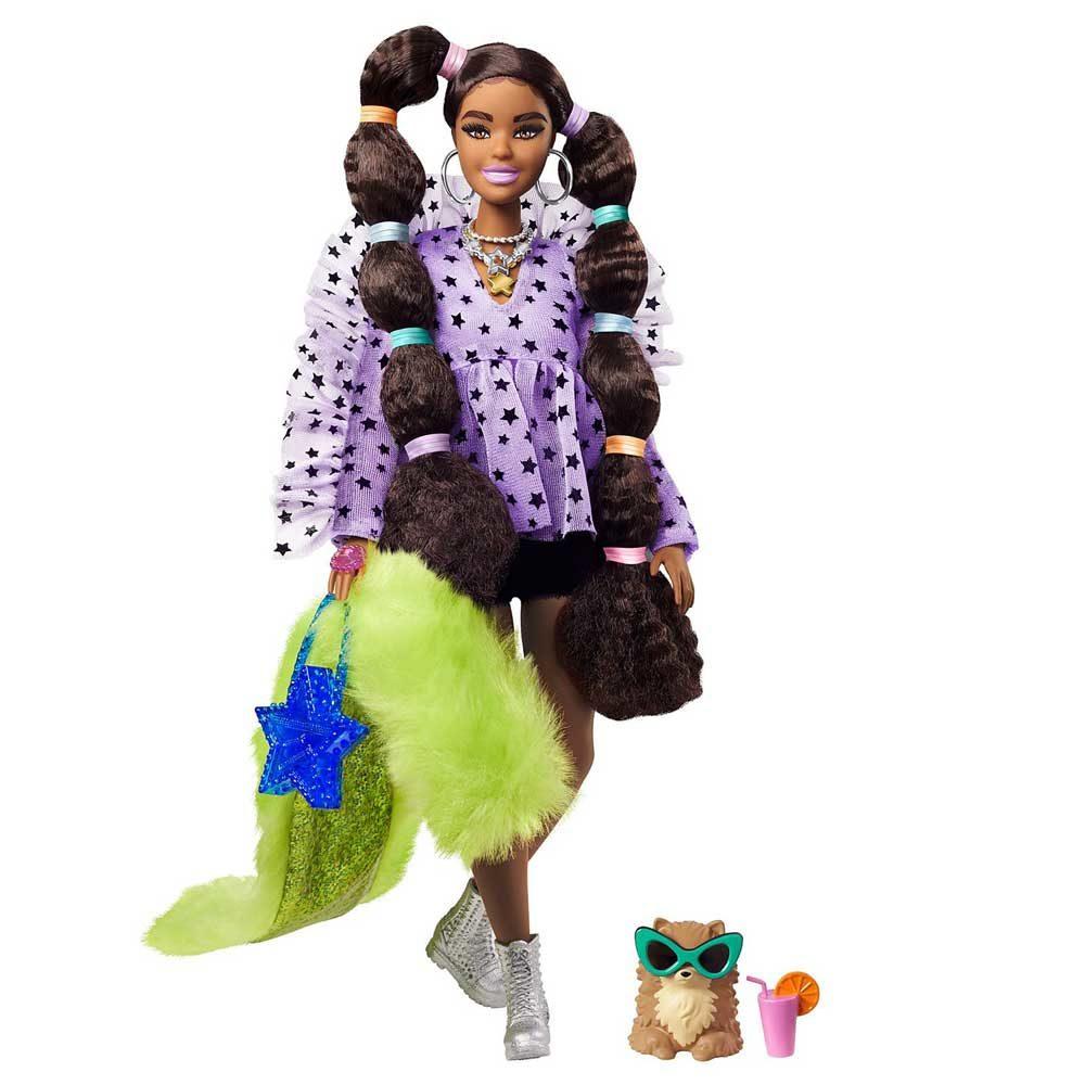Papusa Barbie Extra #7 cu Rochita Mov