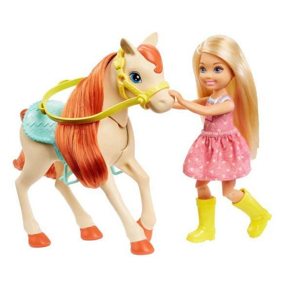 Set de Joaca cu Papusa Barbie Chelsea si 2 Caluti 6